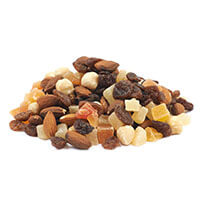 Nuts, dried fruit and vegetables